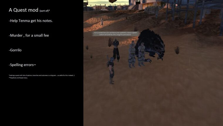 A quest mod — Finding Tenma's notes - Kenshi мод