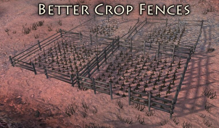 Better Crop Fences - Kenshi мод