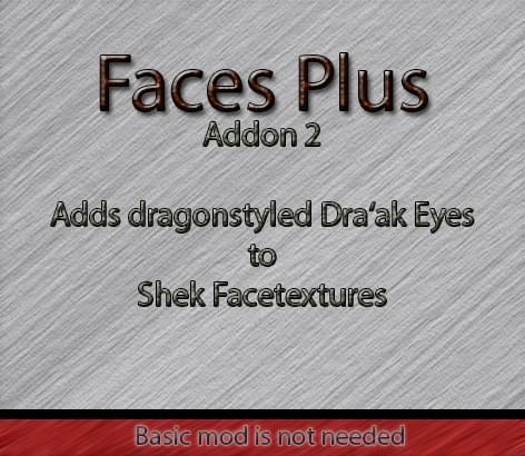 Faces Plus Addon 2 ~Dragonstyled Shek eyecolor texturepack~ - Kenshi мод