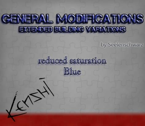 GenMod — Extended Building Variations — less blue texture - Kenshi мод