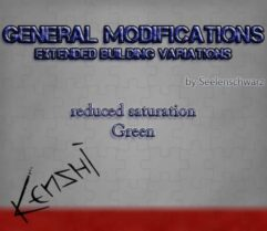 GenMod — Extended Building Variations — less green texture - Kenshi мод