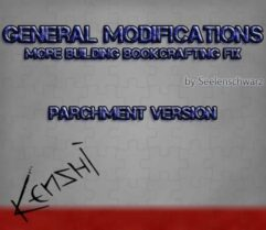 GenMod — More building bookcrafting fix — Parchment Version - Kenshi мод