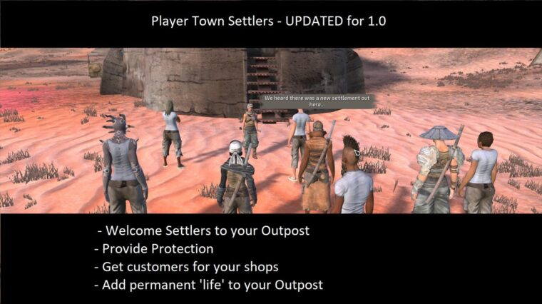 Player Town Settlers - Kenshi мод