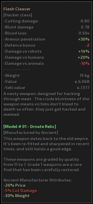 Improved Smithing — New Weapon Variety — Version 2 - Kenshi мод (изображение 2)